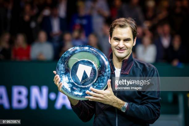 Amro WTT Roger Federer during the ABN Amro World Tennis Tournament at the Rotterdam Ahoy on February 18 2018 in Rotterdam Netherlands