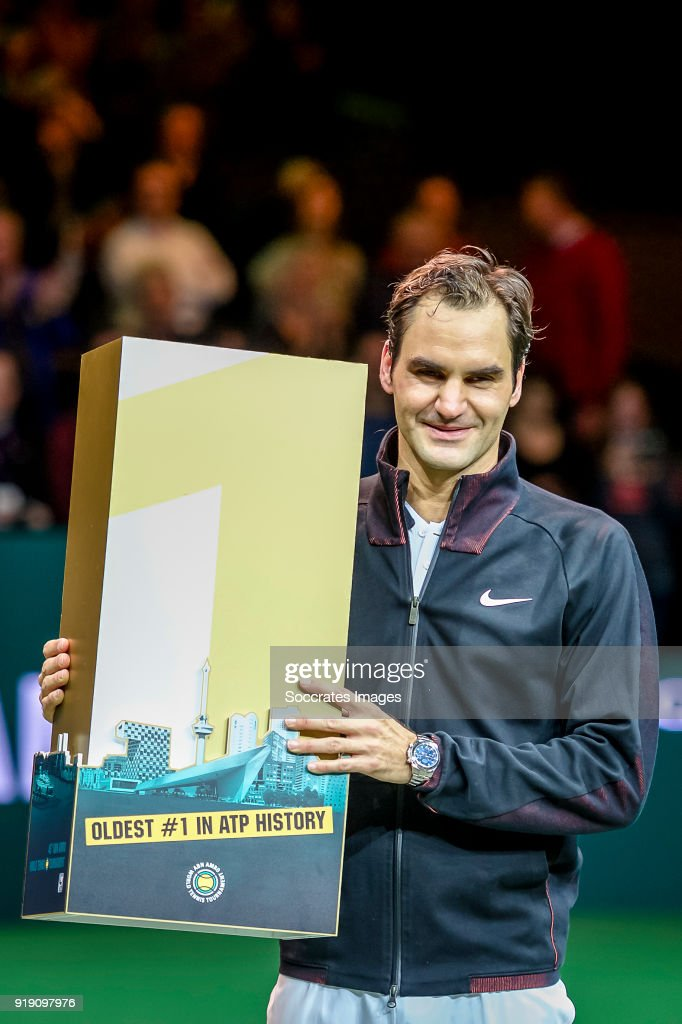 ABN Amro WTT Roger Federer just conquers the worlds Nr 1 position during the ABN Amro World Tennis Tournament at the Rotterdam Ahoy on February 16, 2018 in Rotterdam Netherlands