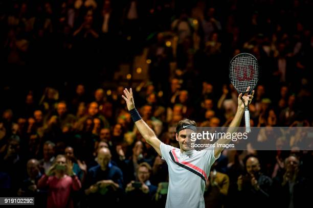Amro WTT Roger Federer just conquers the worlds Nr 1 position during the ABN Amro World Tennis Tournament at the Rotterdam Ahoy on February 16 2018...
