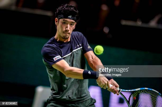 Amro WTT Yuichi Sugiya during the ABN Amro World Tennis Tournament at the Rotterdam Ahoy on February 14 2018 in Rotterdam Netherlands