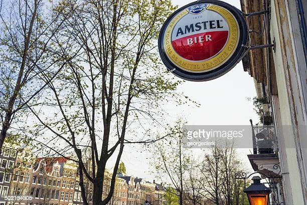 Amstel Bier sign in Amsterdam