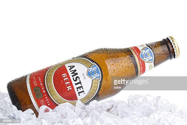 Amstel Bottle on Ice