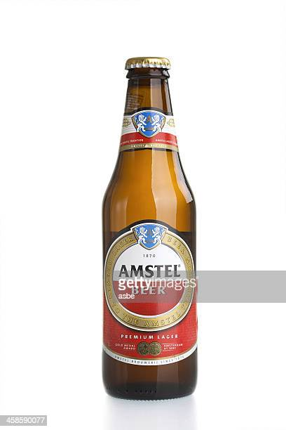 Amstel Bottle on White