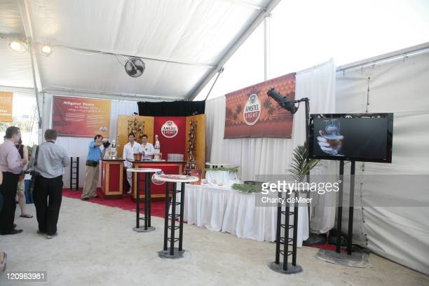 Amstel Light beer garden in the Grand Tasting Tent
