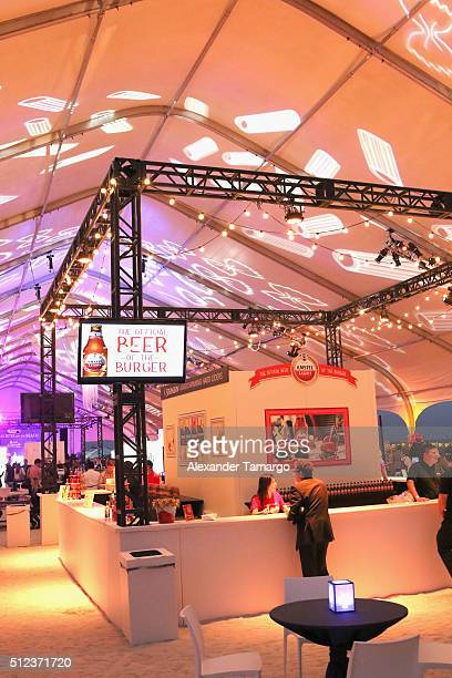 Amstel Light Lager Beer and STRONGBOW HARD APPLE CIDER on display at MasterCard Preview Barilla's Italian Bites On Yhe Beach during 2016 Food Network...