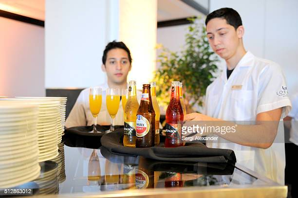 Amstel Light Lager Beer and Strongbow Hard Apple Cider on display at the Southern Kitchen Brunch Hosted By Trisha Yearwood Part of The NYT Cooking...
