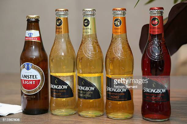 Amstel Light Lager Beer and Strongbow Hard Apple Cider ondisplay at MasterCard Preview Barilla's Italian Bites On the Beach during 2016 Food Network...