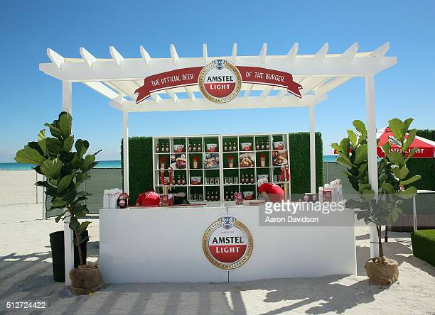 Amstel Light Lager Beer on display at Goya Foods Grand Tasting Village Featuring MasterCard Grand Tasting Tents KitchenAid® Culinary Demonstrations...