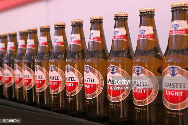 Amstel Light Lager Beer on display at MasterCard Preview Barilla's Italian Bites On Yhe Beach during 2016 Food Network Cooking Channel South Beach...