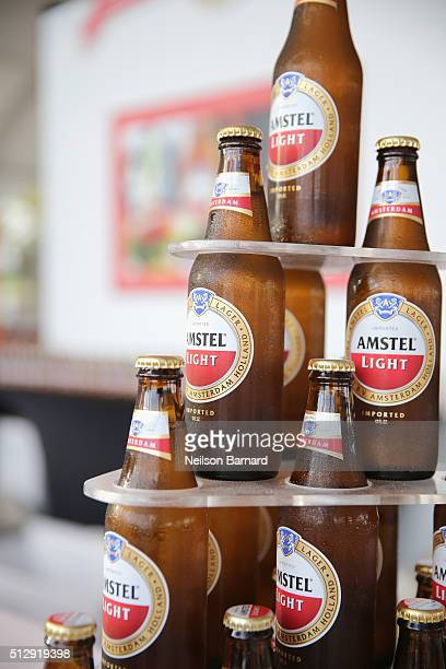Amstel Light Lager Beer on display at the LUCKY CHOPSTICKS An Asian Night Market Hosted By Andrew Zimmern during 2016 Food Network Cooking Channel...