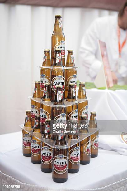 Amstel Light stacked in the beer garden at the Grand Tasting Tent