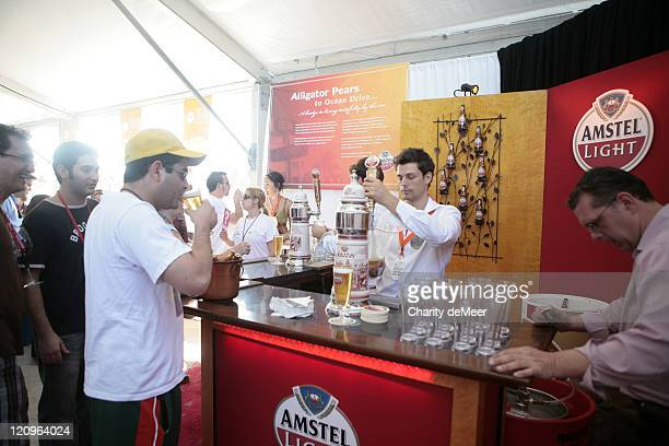 Amstel Light's beer garden in the Grand Tasting Tent