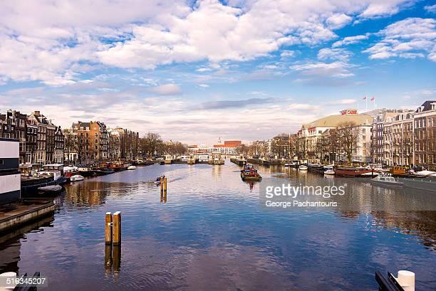 Amstel river from Hoge Sluis bridge