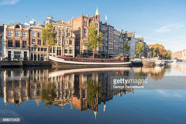 Amstel river in Amsterdam