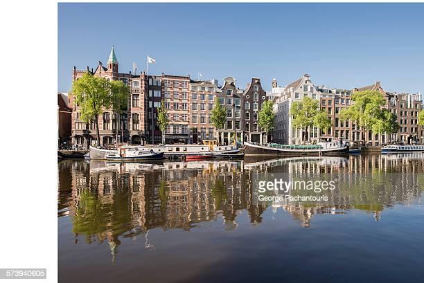 Amstel river meets Amsterdam