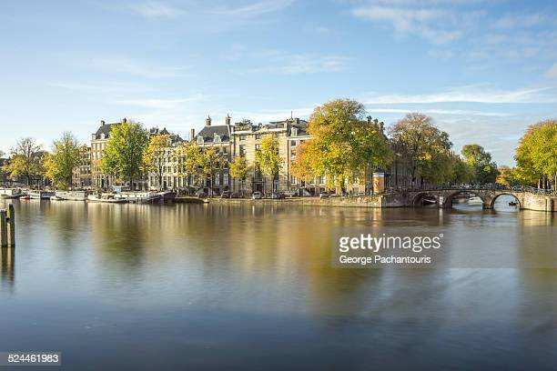 Amstel river on a calm autumn morning