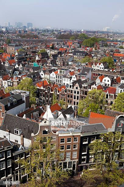 Amsterdam Aerial View in Holland