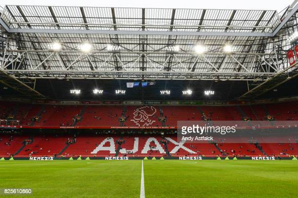 Amsterdam Arena prior to the UEFA Champions League Qualifying Third Round Second Leg match between AJAX Amsterdam and OSC Nice at Amsterdam Arena on...