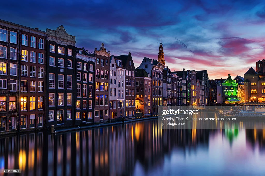 Amsterdam canals : Stock Photo