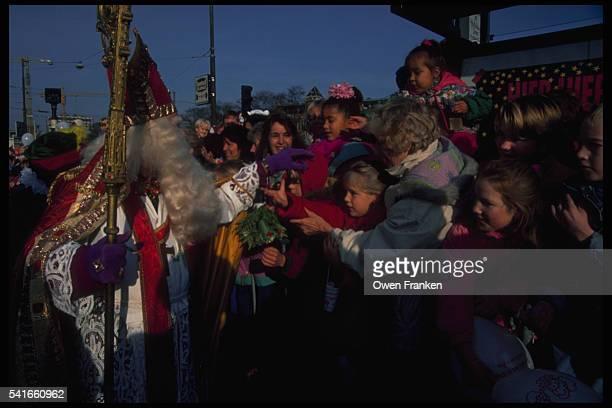 Amsterdam Children Reaching for Sinterklaas