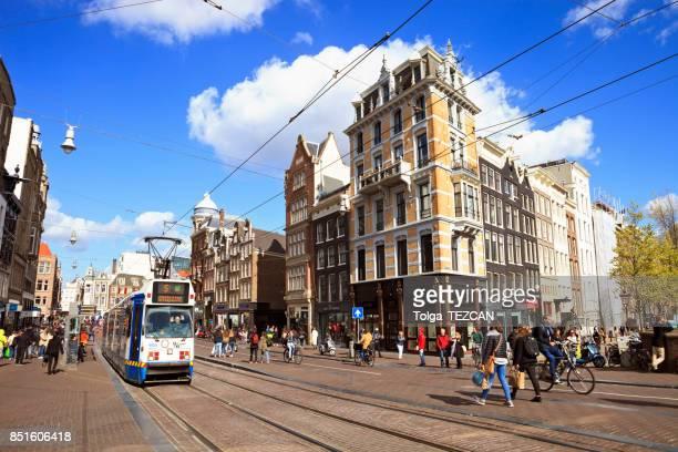 Centrum van de stad Amsterdam, Nederland