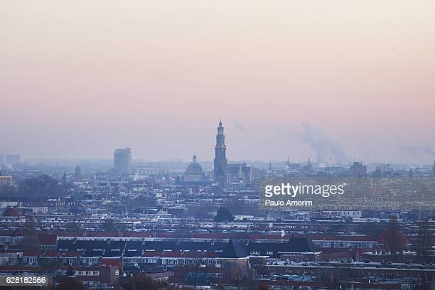 Amsterdam City during Winter in Netherlands