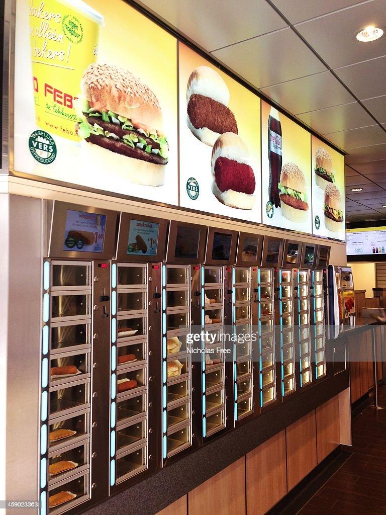 Amsterdam Fast-Food : Stock-Foto