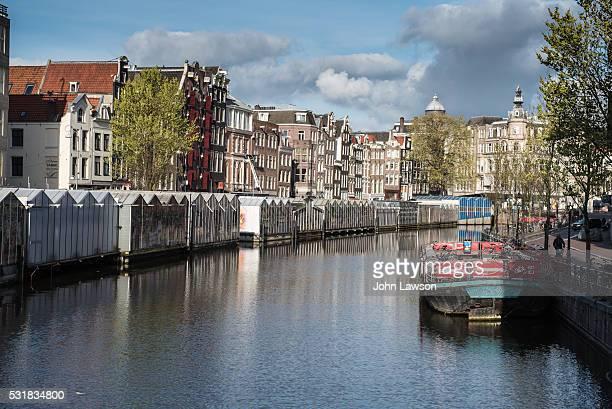 Amsterdam Flower Market on the Singel canal