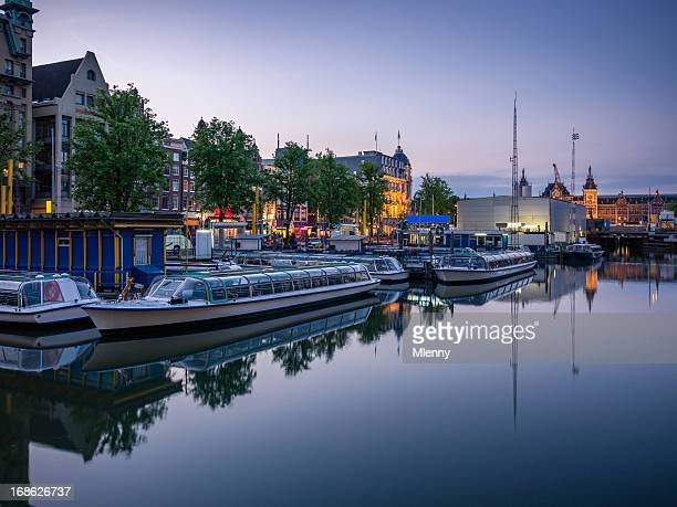 Amsterdam Gracht Twilight Scene