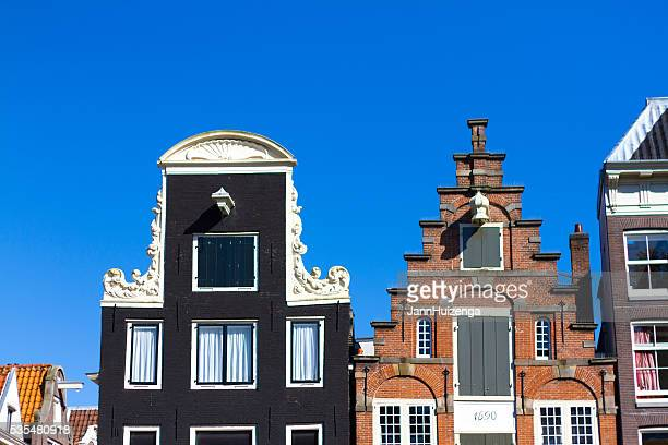 Amsterdam, Holland: Gables of Old Houses Against Blue Sky