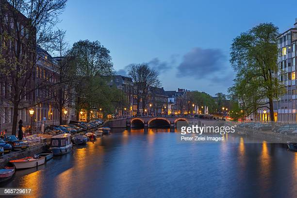 Amsterdam in the evening