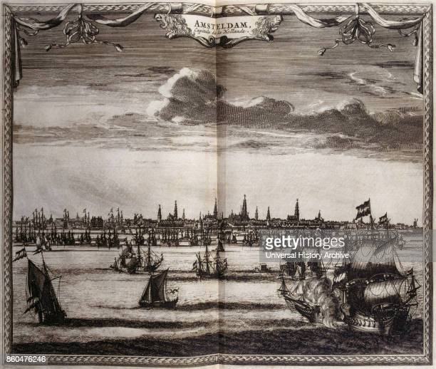 Amsterdam in the Netherlands from voyages made to Persia and India 1727 by Johan Albrecht de Mandelslo seventeenthcentury German adventurer who wrote...