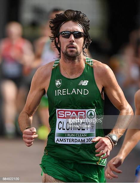 Amsterdam Netherlands 10 July 2016 Team Ireland athlete Mick Clohisey in action during the Men's HalfMarathon on day five of the 23rd European...