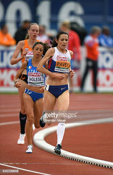 Amsterdam Netherlands 6 July 2016 Jo Pavey of Great Britain in action during the Women's 10000m final on day one of the 23rd European Athletics...