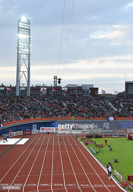 Amsterdam Netherlands 8 July 2016 Turkish athletes Ali Kaya and Polat Kemboi Arikan lead the field during the Men's 10000m Final on day three of the...