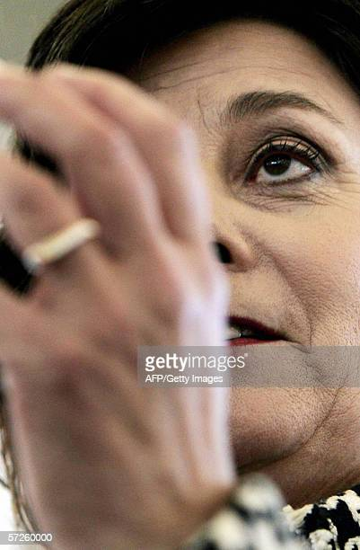 Amsterdam, NETHERLANDS: Dutch Minister of Integration and Immigration and member of the labour party VVD, Rita Verdonk, is pictured 05 April 2006...