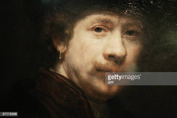 Photo shows a detail from a portrait in the exhibition of Dutch artist Rembrandt van Rijn 'Rembrandt Search of a genius' which opened 30 March 2006...