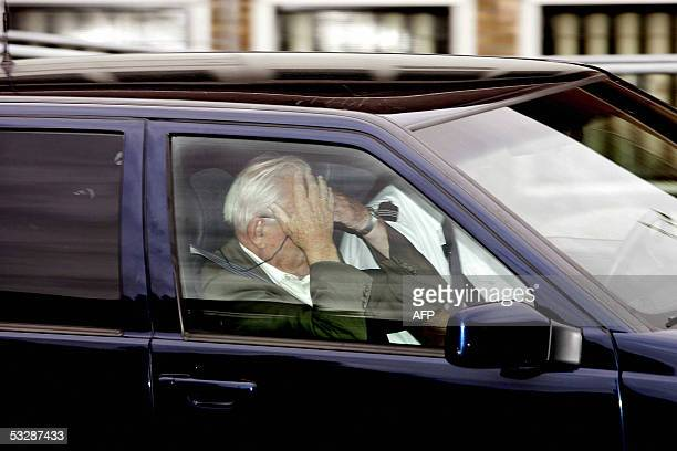 The father of murdered film director Theo van Gogh leaves the heavily guarded court in Amsterdam 26 July 2005 following the sentencing of...