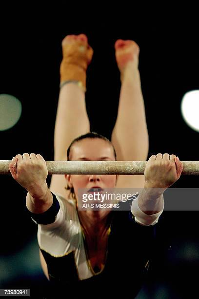 Verona Van De Leur of the Netherlands performs on the uneven bars during the 2nd European Artistic Gymnastics individual championship in Amsterdam 26...