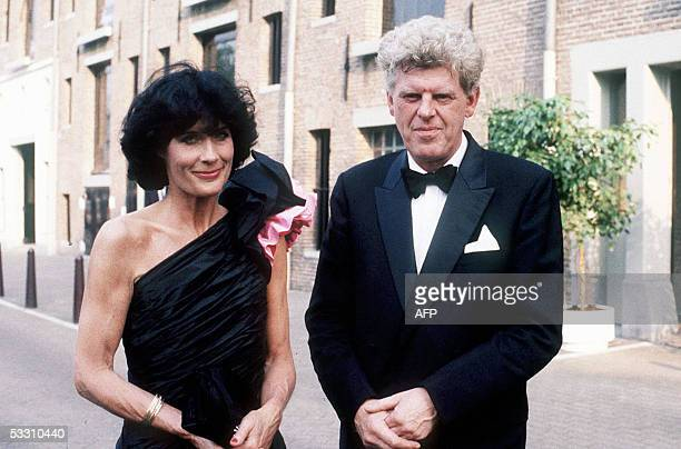 Wim Duisenberg the President of the Dutch National Bank Ltd poses with his bride Mrs Gretta DuisenbergBedier de Prairie after their wedding 24 August...