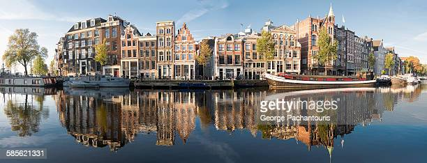amsterdam panorama - amsterdam stock pictures, royalty-free photos & images