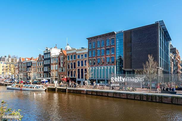 amesterdão, prinsengracht, casa de anne frank, países baixos - anne frank imagens e fotografias de stock