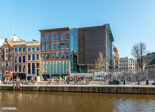 amesterdão, prinsengracht, casa de anne frank, norte da holanda, países baixos - anne frank imagens e fotografias de stock