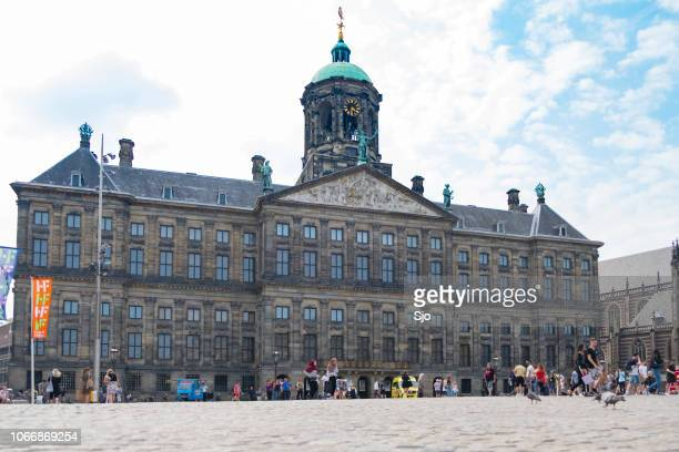 Amsterdam, Royal Palace on the Dam, low angle view