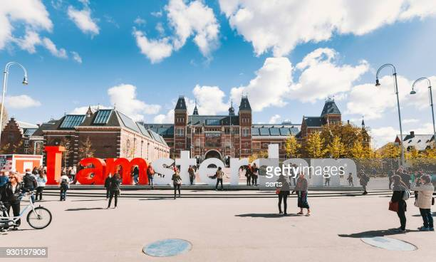 I Amsterdam sign at Museumplein, Rijksmuseum