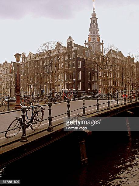 amsterdam skyline over a bridge - vogel stock pictures, royalty-free photos & images