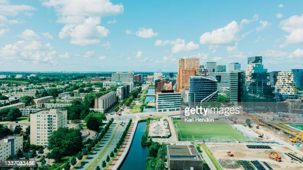 amsterdam skyline - stock photo - north holland stock pictures, royalty-free photos & images