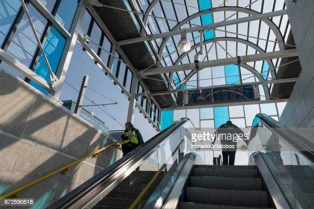 Amsterdam South Metro station on April 20 2017 in Amsterdam Netherlands The city's Metro system was first introduced in 1977 It is a fast way of...