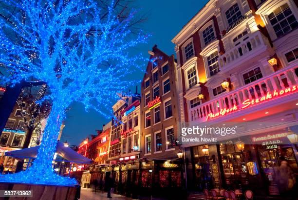 Amsterdam street scene at Christmas