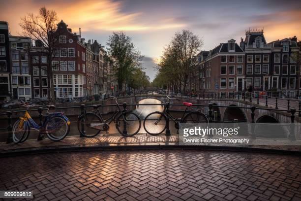 Amsterdam sunset view